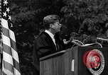 Image of John F Kennedy addressing American university commencement Washington DC USA, 1963, second 8 stock footage video 65675034024