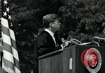 Image of John F Kennedy addressing American university commencement Washington DC USA, 1963, second 10 stock footage video 65675034024