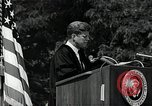 Image of John F Kennedy addressing American university commencement Washington DC USA, 1963, second 11 stock footage video 65675034024