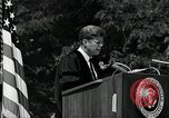 Image of John F Kennedy addressing American university commencement Washington DC USA, 1963, second 12 stock footage video 65675034024