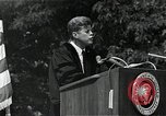 Image of John F Kennedy at American University about human rights Washington DC USA, 1963, second 2 stock footage video 65675034025