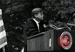 Image of John F Kennedy at American University about human rights Washington DC USA, 1963, second 8 stock footage video 65675034025