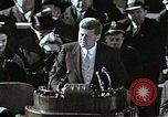 Image of John F Kennedy's Inaugural speech Washington DC USA, 1961, second 1 stock footage video 65675034027