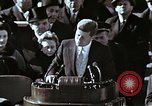Image of John F Kennedy's Inaugural speech Washington DC USA, 1961, second 9 stock footage video 65675034027