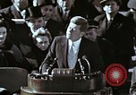 Image of John F Kennedy's Inaugural speech Washington DC USA, 1961, second 10 stock footage video 65675034027