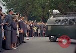 Image of President Kennedy in motorcade and spectators Wiesbaden Germany, 1963, second 3 stock footage video 65675034047