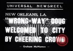 Image of Wrong Way Doug New Orleans Louisiana USA, 1938, second 2 stock footage video 65675034107
