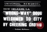 Image of Wrong Way Doug New Orleans Louisiana USA, 1938, second 6 stock footage video 65675034107
