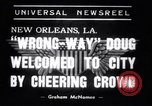 Image of Wrong Way Doug New Orleans Louisiana USA, 1938, second 7 stock footage video 65675034107