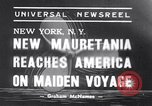 Image of New ship RMS Mauretania New York United States USA, 1939, second 1 stock footage video 65675034120