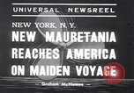 Image of New ship RMS Mauretania New York United States USA, 1939, second 2 stock footage video 65675034120