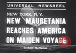 Image of New ship RMS Mauretania New York United States USA, 1939, second 4 stock footage video 65675034120