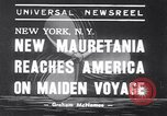 Image of New ship RMS Mauretania New York United States USA, 1939, second 5 stock footage video 65675034120