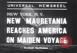 Image of New ship RMS Mauretania New York United States USA, 1939, second 6 stock footage video 65675034120