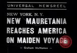 Image of New ship RMS Mauretania New York United States USA, 1939, second 8 stock footage video 65675034120