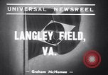 Image of Brazilian army chief Langley Field Virginia USA, 1939, second 3 stock footage video 65675034122