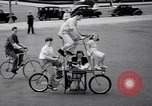 Image of Charles Steinhauf stunt bicycles Chicago Illinois USA, 1939, second 8 stock footage video 65675034127