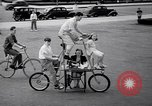 Image of Charles Steinhauf stunt bicycles Chicago Illinois USA, 1939, second 9 stock footage video 65675034127