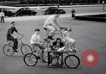 Image of Charles Steinhauf stunt bicycles Chicago Illinois USA, 1939, second 10 stock footage video 65675034127
