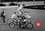 Image of Charles Steinhauf stunt bicycles Chicago Illinois USA, 1939, second 11 stock footage video 65675034127