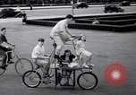 Image of Charles Steinhauf stunt bicycles Chicago Illinois USA, 1939, second 12 stock footage video 65675034127