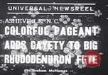 Image of Rhododendron Fete Asheville North Carolina USA, 1939, second 2 stock footage video 65675034128