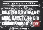 Image of Rhododendron Fete Asheville North Carolina USA, 1939, second 3 stock footage video 65675034128