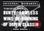Image of race horse Bunty Lawless Toronto Ontario Canada, 1939, second 1 stock footage video 65675034133