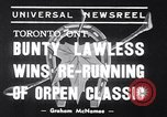 Image of race horse Bunty Lawless Toronto Ontario Canada, 1939, second 2 stock footage video 65675034133