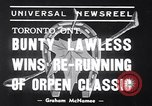 Image of race horse Bunty Lawless Toronto Ontario Canada, 1939, second 3 stock footage video 65675034133