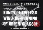 Image of race horse Bunty Lawless Toronto Ontario Canada, 1939, second 5 stock footage video 65675034133