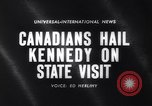 Image of John F Kennedy Ottawa Ontario Canada, 1961, second 2 stock footage video 65675034139