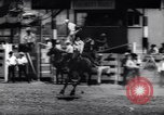 Image of horse and bull ride San Jose California USA, 1961, second 12 stock footage video 65675034156
