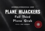 Image of airliner seized El Paso Texas USA, 1961, second 1 stock footage video 65675034185