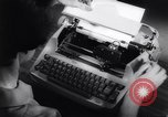 Image of electric typewriter New York United States USA, 1961, second 7 stock footage video 65675034189