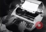 Image of electric typewriter New York United States USA, 1961, second 9 stock footage video 65675034189