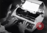 Image of electric typewriter New York United States USA, 1961, second 10 stock footage video 65675034189