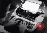 Image of electric typewriter New York United States USA, 1961, second 11 stock footage video 65675034189