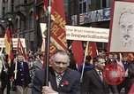 Image of May Day parade East Berlin Germany, 1961, second 2 stock footage video 65675034244