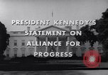 Image of President Kennedy speaking to diplomats at White House Washington DC USA, 1961, second 3 stock footage video 65675034303