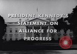 Image of President Kennedy speaking to diplomats at White House Washington DC USA, 1961, second 5 stock footage video 65675034303