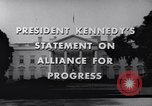 Image of President Kennedy speaking to diplomats at White House Washington DC USA, 1961, second 6 stock footage video 65675034303