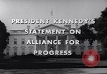 Image of President Kennedy speaking to diplomats at White House Washington DC USA, 1961, second 7 stock footage video 65675034303