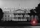 Image of President Kennedy speaking to diplomats at White House Washington DC USA, 1961, second 8 stock footage video 65675034303