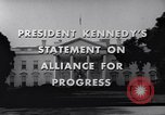 Image of President Kennedy speaking to diplomats at White House Washington DC USA, 1961, second 9 stock footage video 65675034303