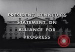Image of President Kennedy speaking to diplomats at White House Washington DC USA, 1961, second 10 stock footage video 65675034303