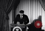 Image of President Kennedy speaking about Latin America Washington DC USA, 1961, second 10 stock footage video 65675034304