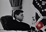 Image of John F Kennedy talking to military advisors Washington DC USA, 1963, second 11 stock footage video 65675034342