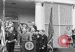 Image of Thomas Hudner Medal of Honor Washington DC White House, 1951, second 6 stock footage video 65675034415