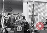 Image of Thomas Hudner Medal of Honor Washington DC White House, 1951, second 9 stock footage video 65675034415